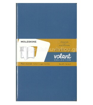 MOLESKINE ΣΗΜΕΙΩΜΑΤΑΡΙΟ VOLANT LARGE SOFT COVER FORGET BLUE AMBER YELLOW PLAIN NOTEBOOK (ΣΕΤ ΤΩΝ ΔΥΟ) (ΚΕΝΟ)