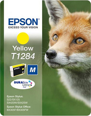 EPSON T1284 S22 SIZE M YELLOW INK CRTR
