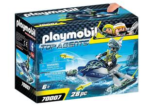 PLAYMOBIL TOP AGENTS AQUA SCOOTER ΤΗΣ SHARK TEAM 70007